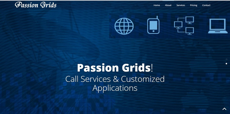 A great web design by Passion Grids, Mumbai, India: