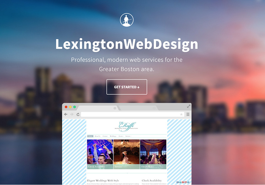 A great web design by LexingtonWebDesign, Cambridge, MA: