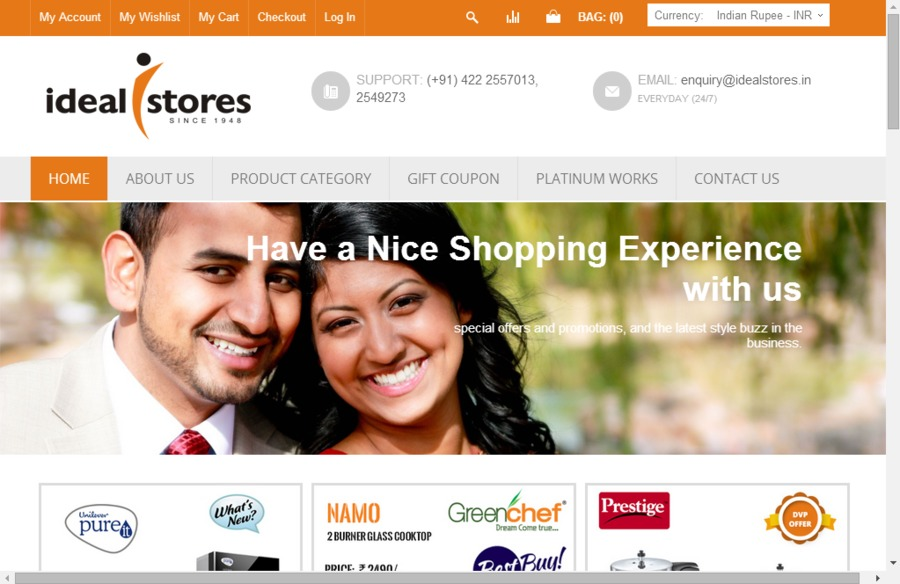 A great web design by IStrides Technologies, Chennai, India: Responsive Website, E-Commerce , Retail , PHP