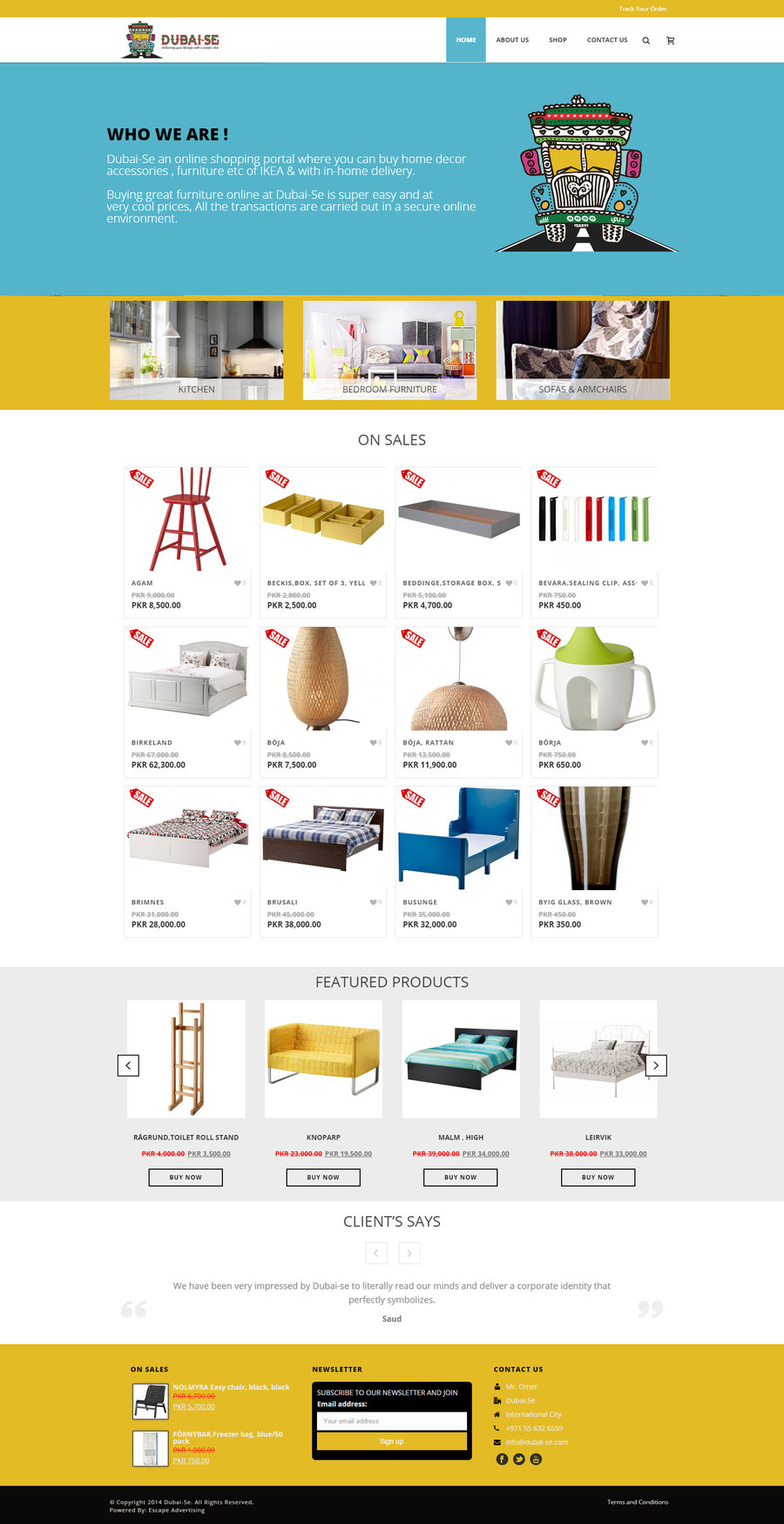 A great web design by Escape Advertising, Dubai, United Arab Emirates: Responsive Website, E-Commerce , Consumer Products