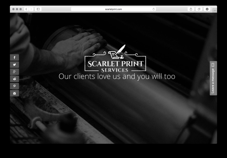A great web design by Scarlet Print Services, Inc., New York, NY: