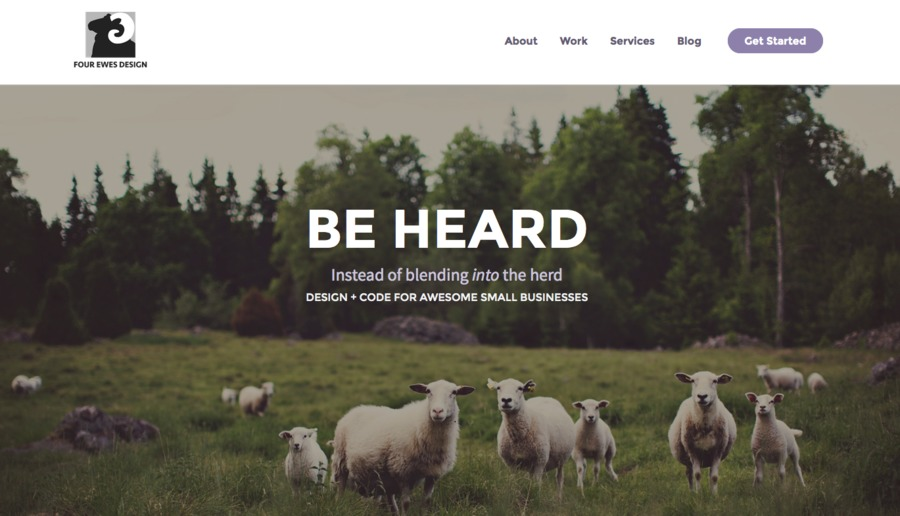 A great web design by Four Ewes Design, Niagara Falls, Canada: