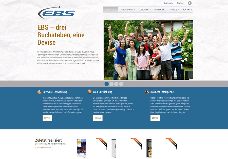 A great web design by EBS Smart Solutions Software GmbH, Lienz, Austria: