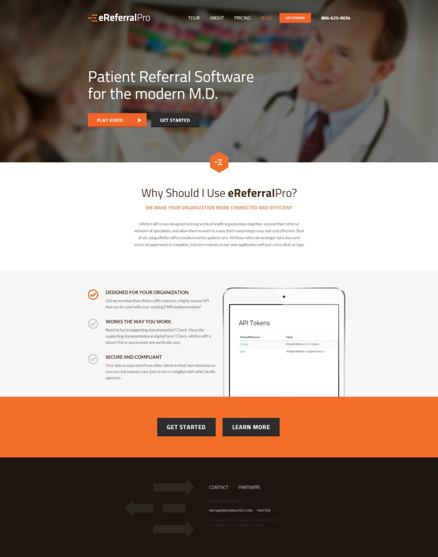 A great web design by Buena Digital, Ventura, CA: Responsive Website, Web Application , Healthcare, ASP.NET