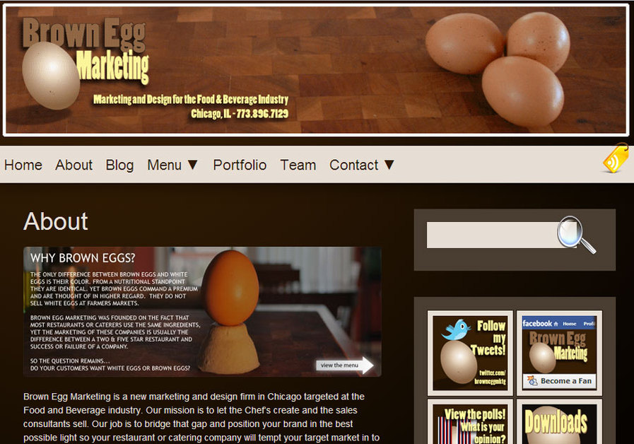 A great web design by Brown Egg Marketing, Chicago, IL: