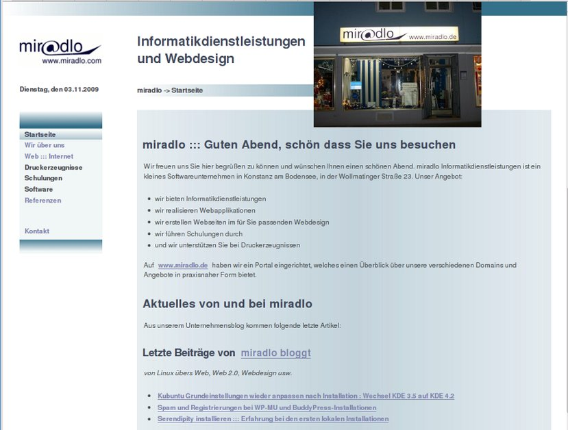 A great web design by miradlo Informatikdienstleistungen, Konstanz, Germany: