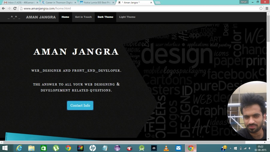 A great web design by Aman Jangra, New Delhi, India: