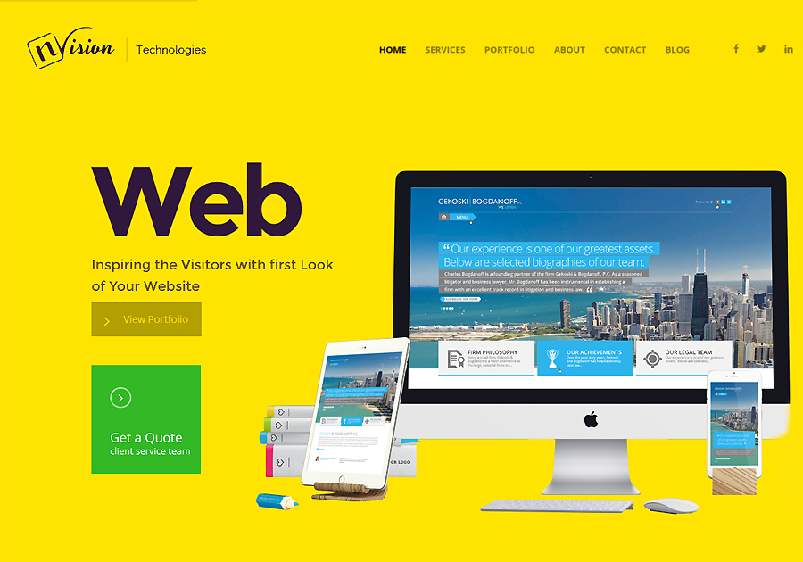 A great web design by Envision Technologies, Dubai, United Arab Emirates: