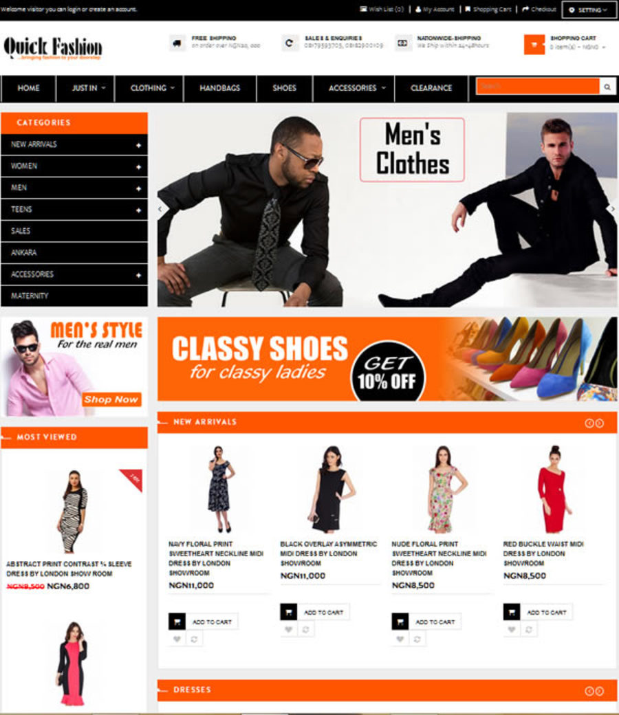A great web design by Regal Gold Technologies, Lagos, Nigeria: Responsive Website, E-Commerce , Fashion , Wordpress