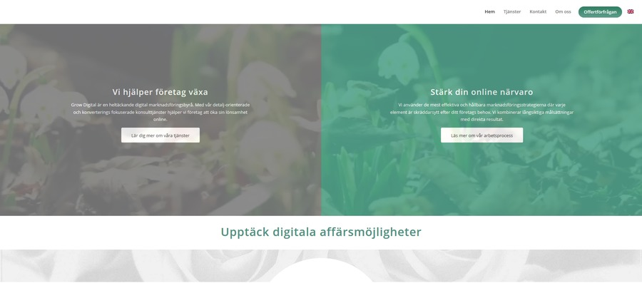A great web design by Grow Digital, Stockholm, Sweden:
