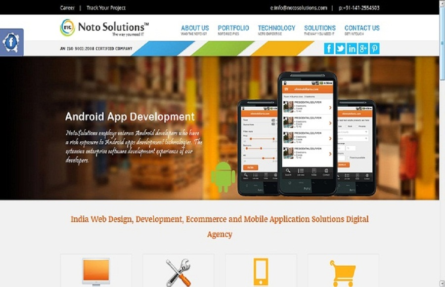 A great web design by NOTO IT Solutions Pvt. Ltd., Raleigh, NC: