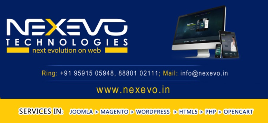 A great web design by Nexevo Technologies, Bangalore, India: