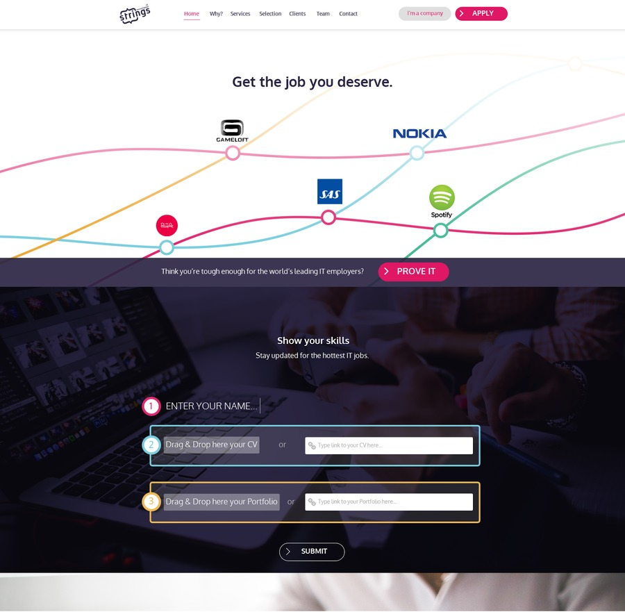 A great web design by Strings IT Consulting, Turku, Finland:
