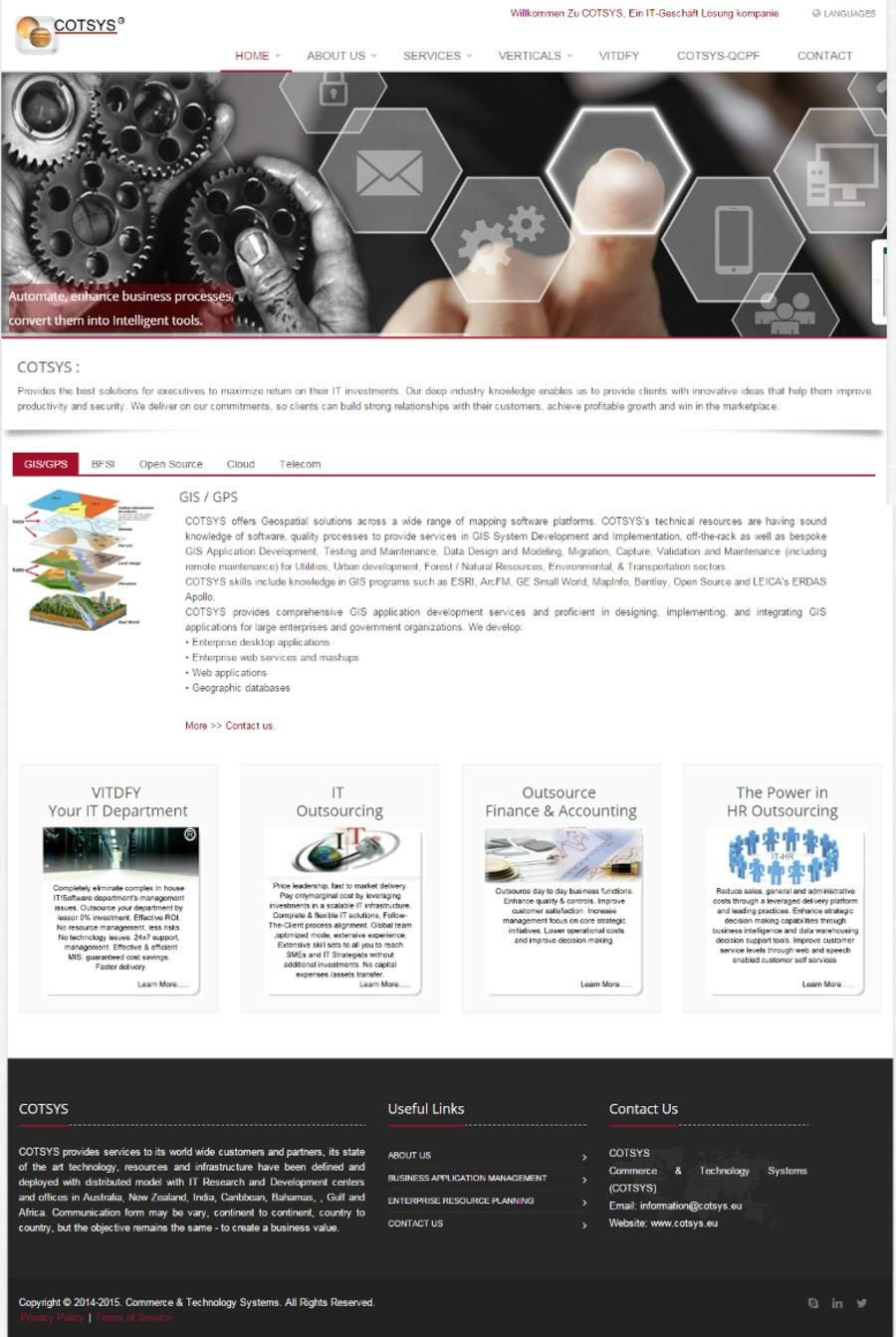A great web design by COTSYS, Espoo, Finland: