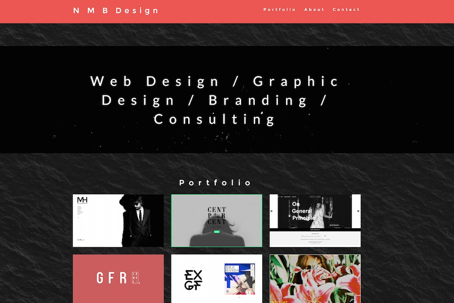 A great web design by N M B Design, Los Angeles, CA: