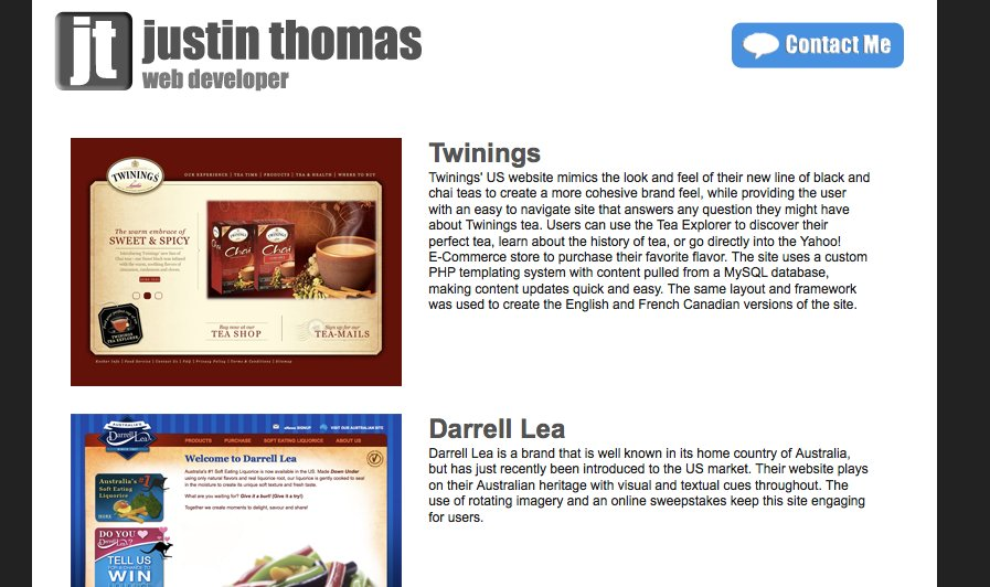 A great web design by Justin Thomas, Philadelphia, PA: