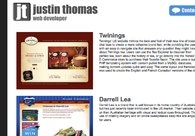 A great web design by Justin Thomas: