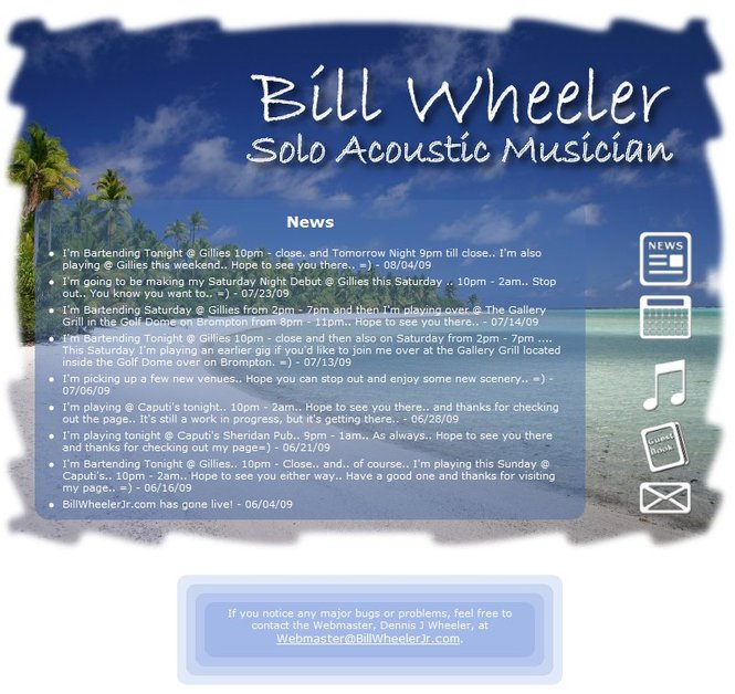 A great web design by Dennis J Wheeler, Buffalo, NY: