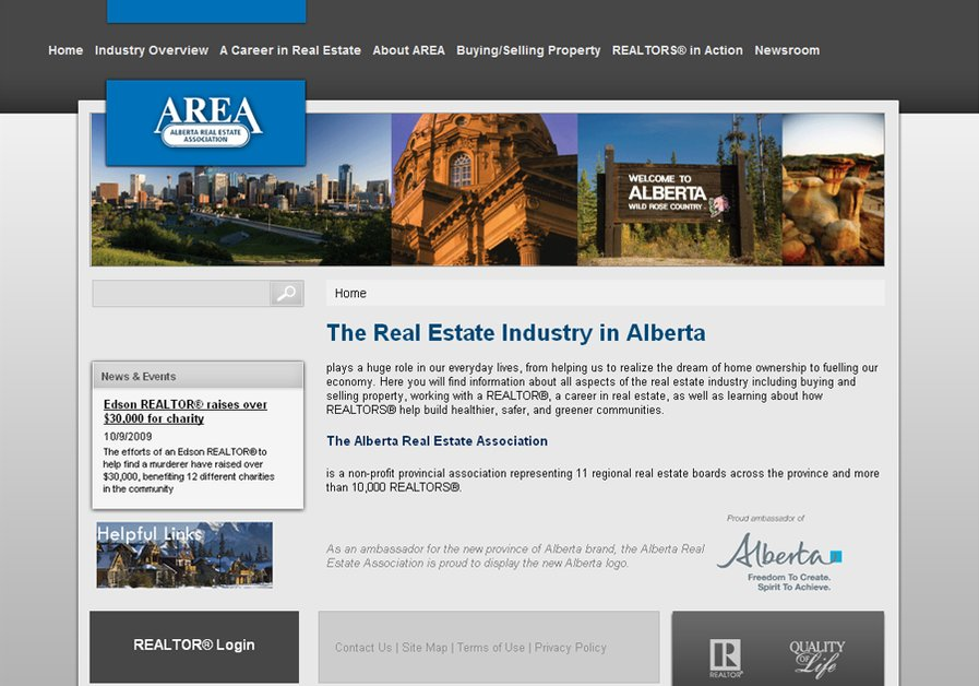 A great web design by Apis Design, Calgary, Canada: