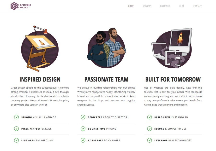 A great web design by Lantern Creative, Vancouver, Canada: