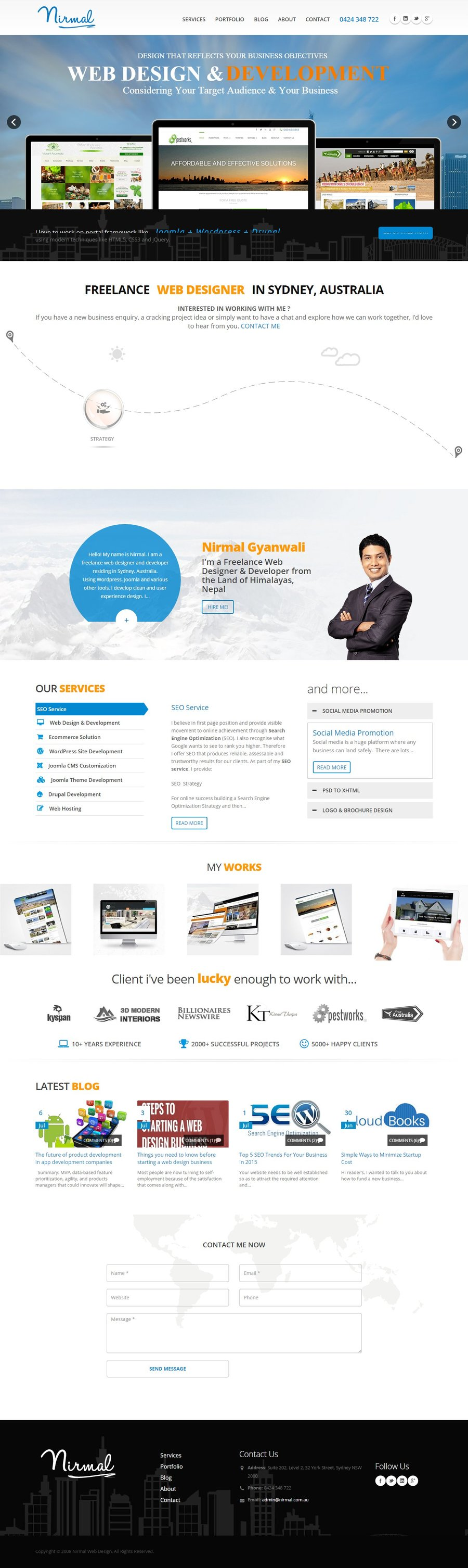 A great web design by Nirmal web Studio, Sydney, Australia: