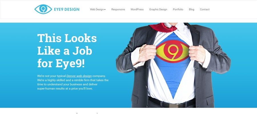 A great web design by Eye9 Design, Denver, CO: