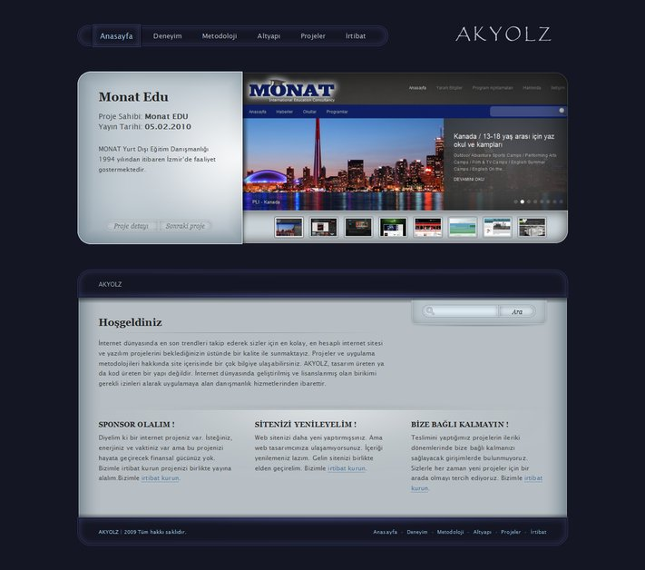 A great web design by A K Y O L Z, Istanbul, Turkey: