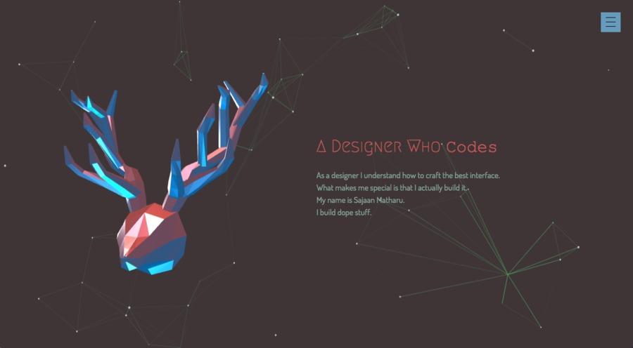 A great web design by Sajaan Matharu, San Fransisco, CA:
