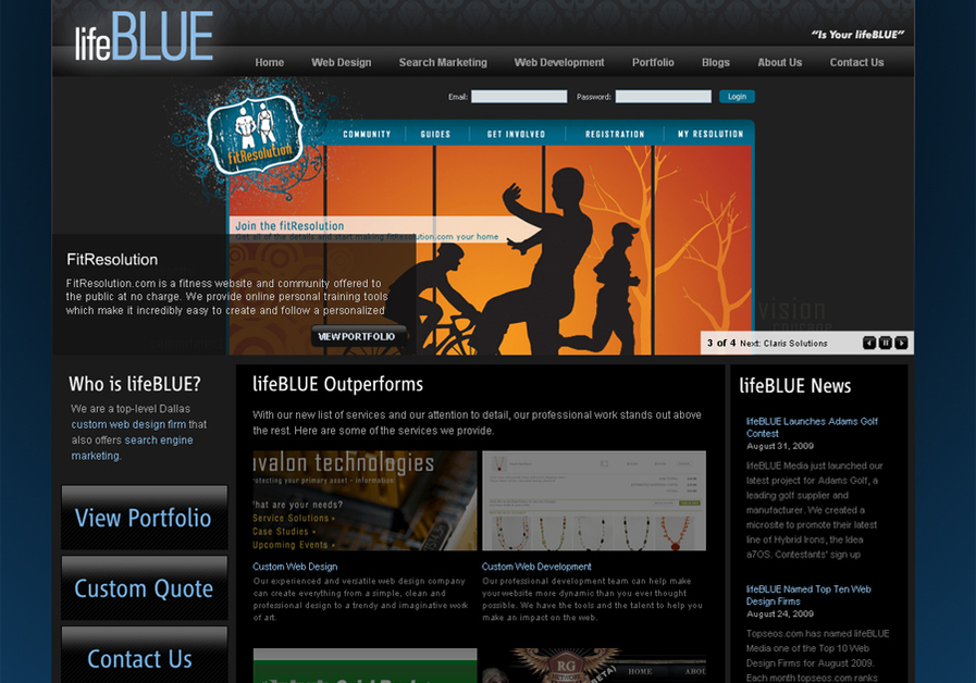 A great web design by lifeBLUE Media, Dallas, TX: