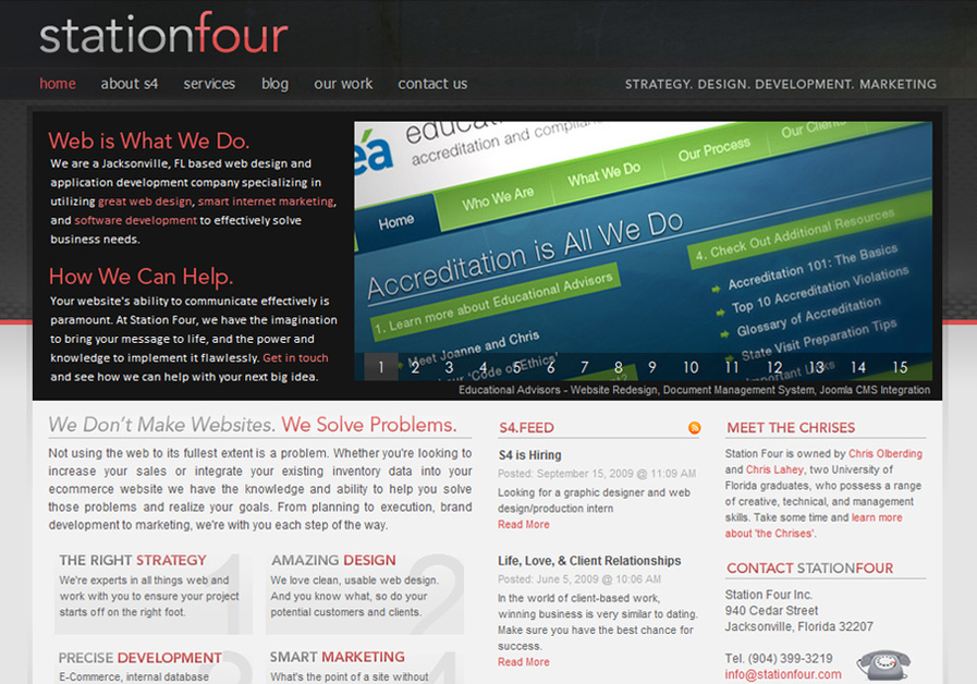 A great web design by Station Four, Jacksonville, FL:
