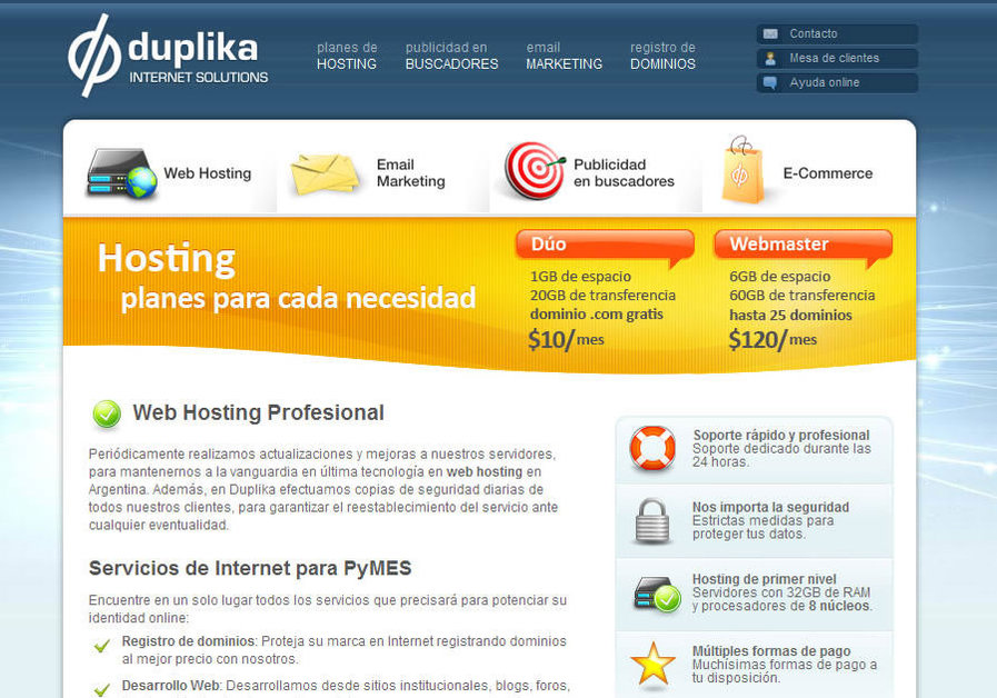 A great web design by Duplika, Buenos Aires, Argentina: