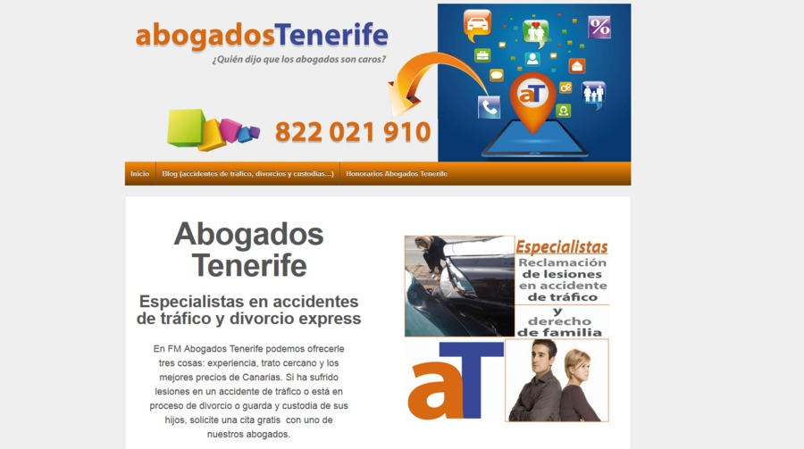 A great web design by FM Abogados Tenerife, Santa Cruz De Tenerife, Spain: Responsive Website, Marketing Website , Legal , Wordpress