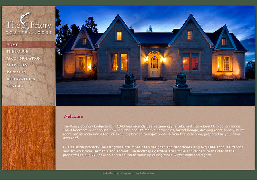 A great web design by Ultimedia, Hobart, Australia: