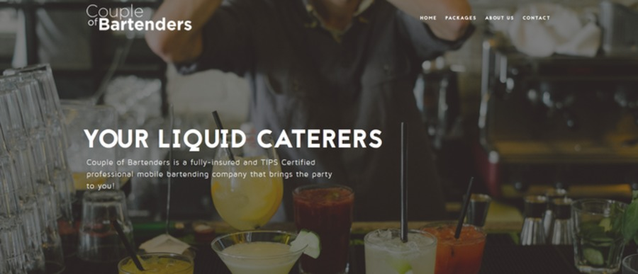 A great web design by Couple Of Bartenders, Chandler, AZ:
