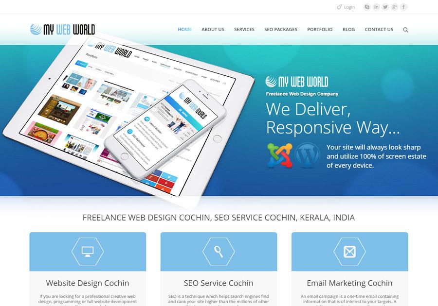A great web design by MY WEB WORLD, Cochin, India: