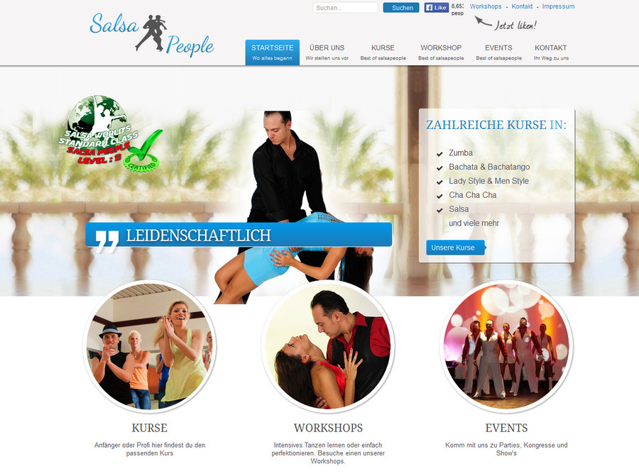 A great web design by Salsa People, Zurich, Switzerland: