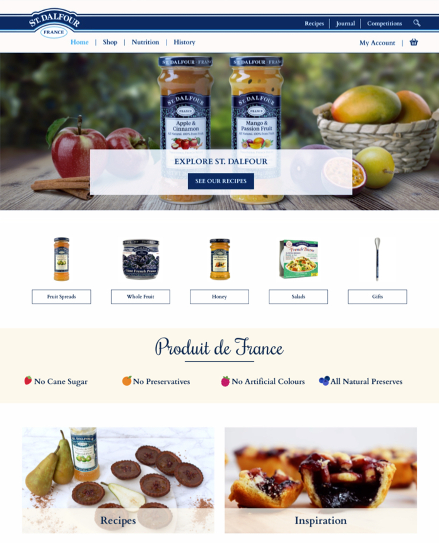 A great web design by Sheer Digital, London, United Kingdom: Responsive Website, E-Commerce , Food & Beverage , Wordpress