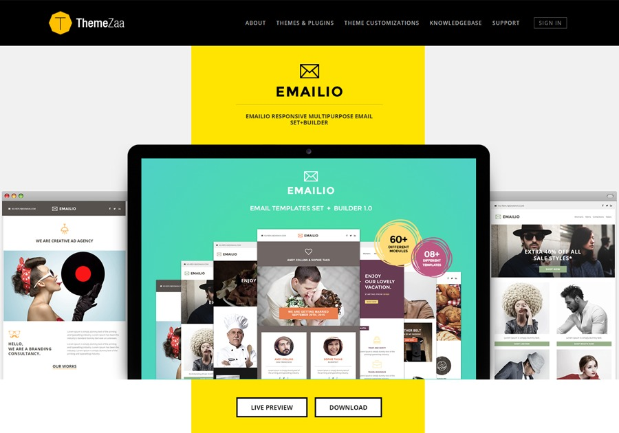 A great web design by ThemeZaa, Ahmedabad, India: