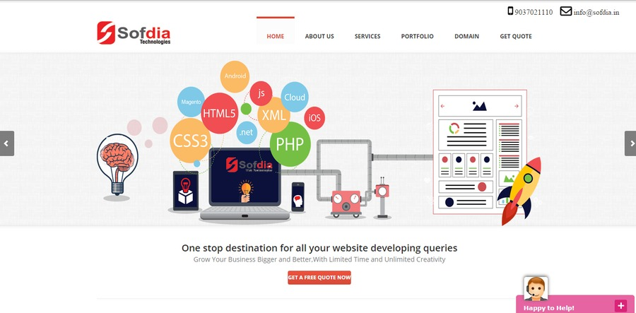 A great web design by Sofdia Technologies, Kochi, India: