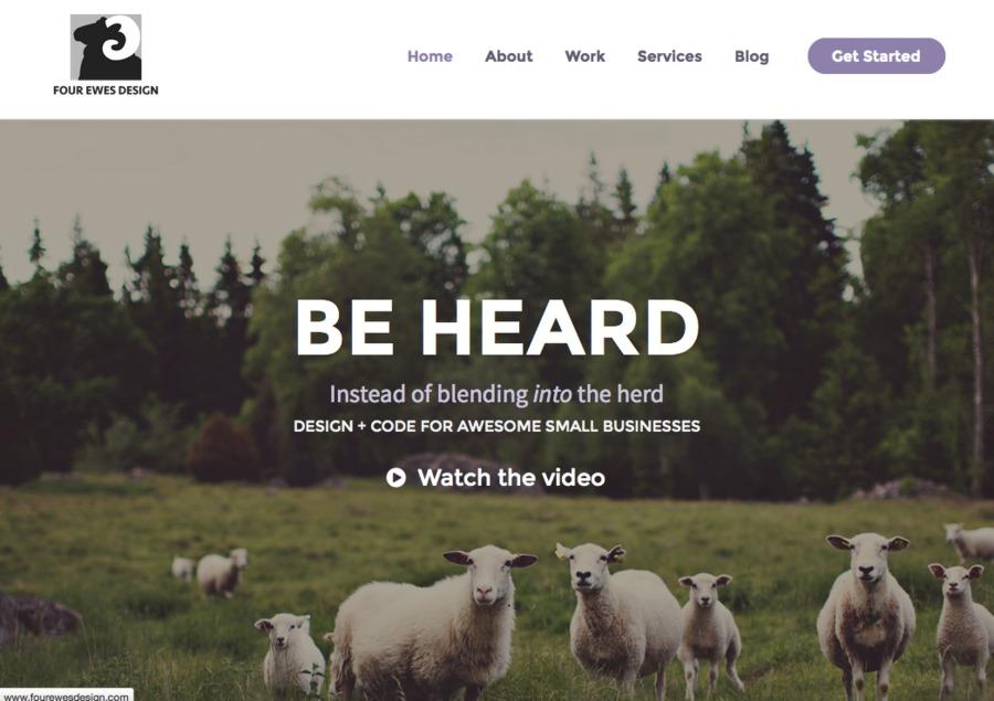 A great web design by Four Ewes Design, Toronto, Canada: