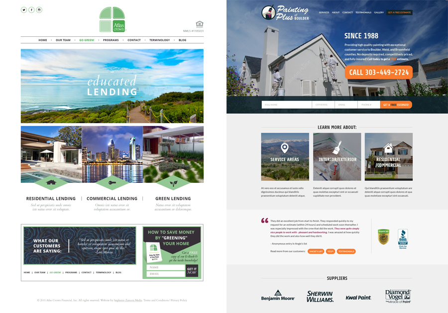 A great web design by Stephenie Zamora Media, LLC, Boulder, CO: