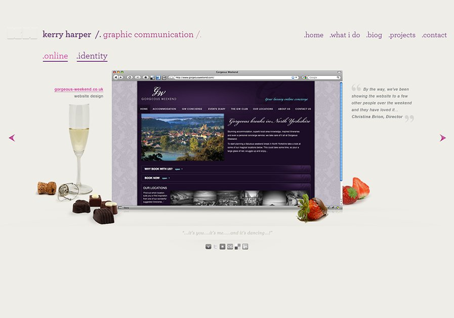 A great web design by Kerry Harper, London, United Kingdom:
