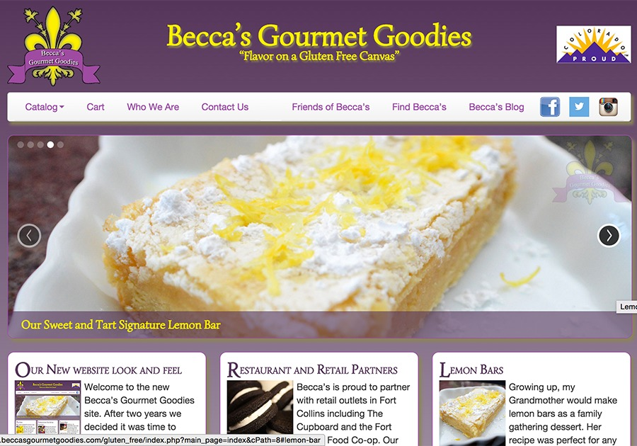 A great web design by Sterk, LLC, Denver, CO: