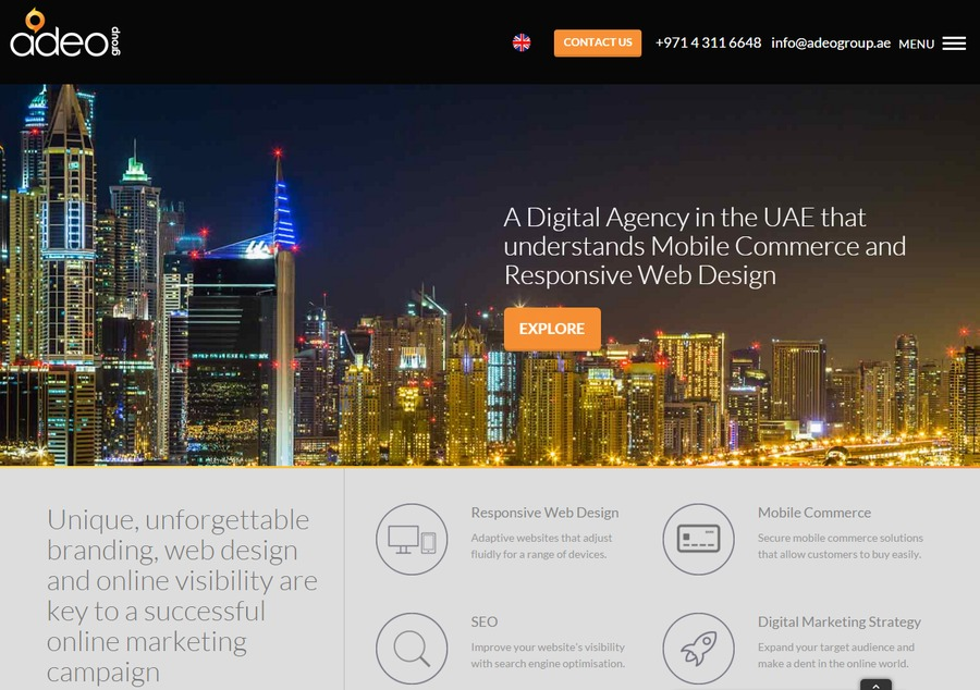 A great web design by Responsive Web Design Dubai, Dubai, United Arab Emirates: