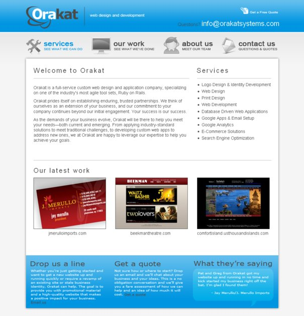 A great web design by Orakat, New York, NY: