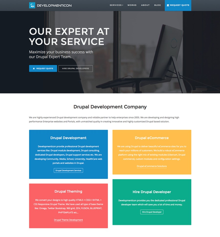 A great web design by Developmenticon, Noida, India: