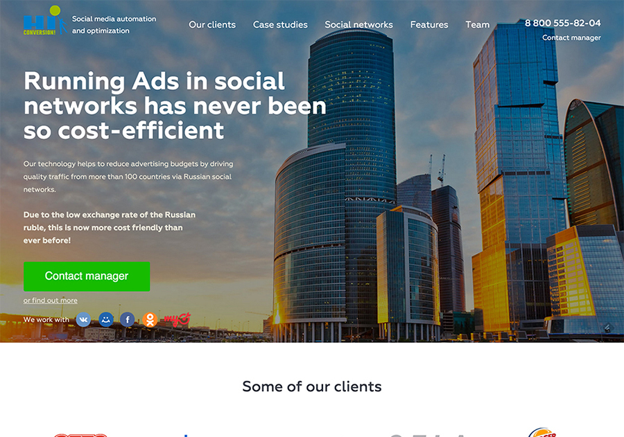 A great web design by Digital Dali, Moscow, Russia: