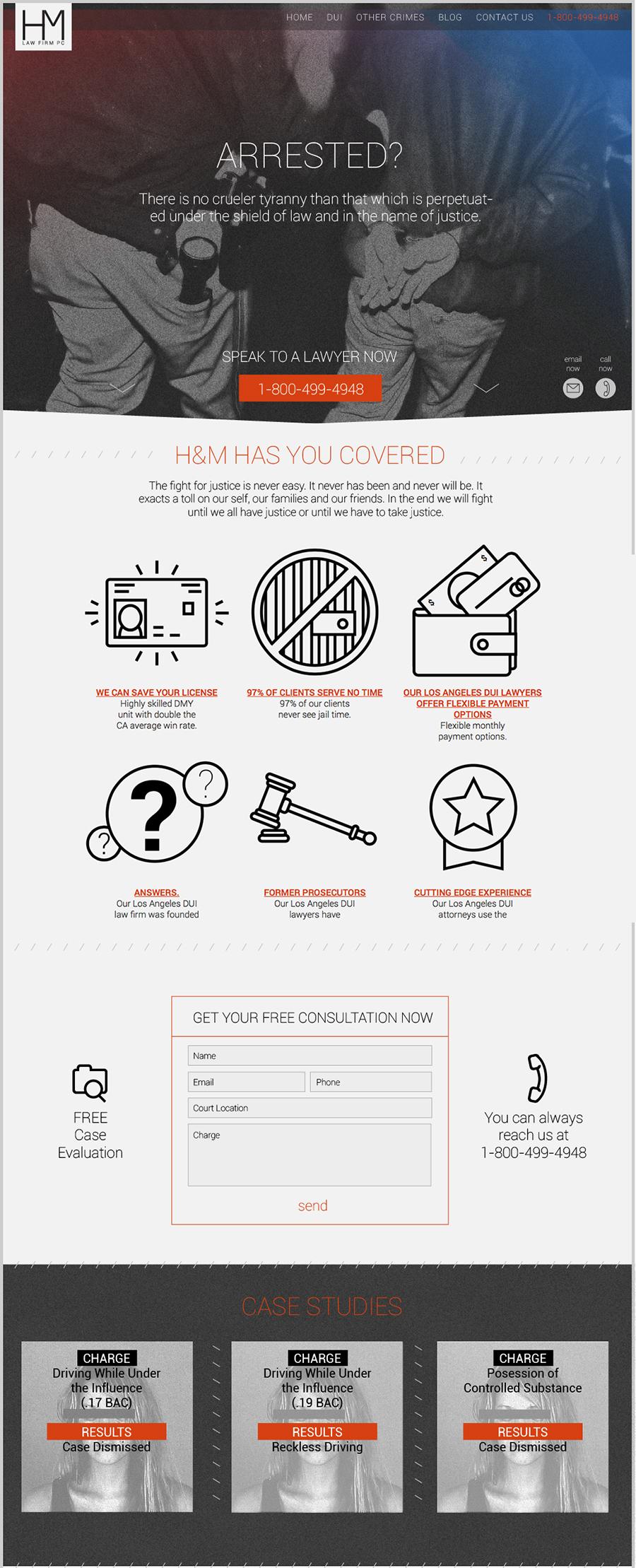A great web design by Ben Lew, Colorado Springs, CO: Responsive Website, Web Application , Legal , Wordpress