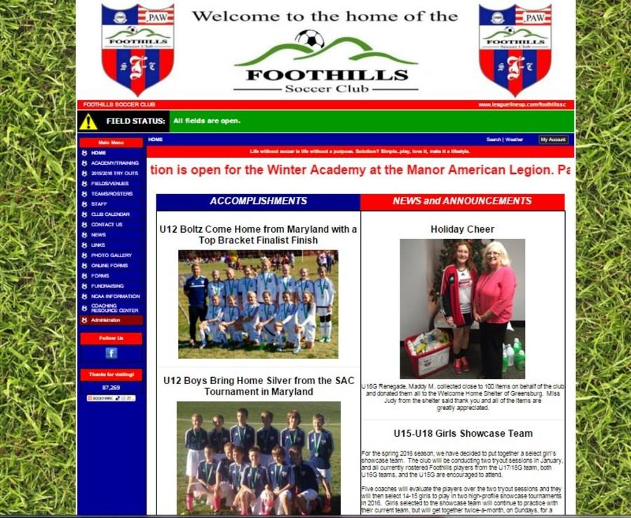A great web design by LeagueLineup - Sports Team Website Builder, Belle Mead, NJ: