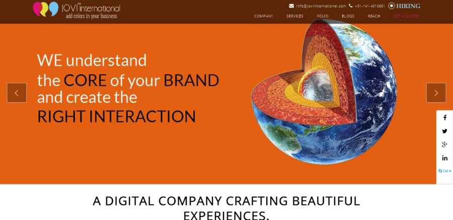 A great web design by JOVI International, Jaipur City, India: